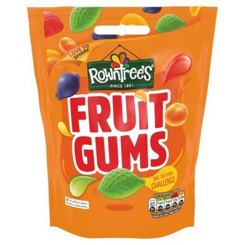 Rowntrees Fruit Gums Sweets 150g